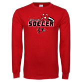 Red Long Sleeve T Shirt-Soccer Swoosh