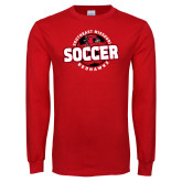 Red Long Sleeve T Shirt-Soccer Design