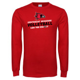 Red Long Sleeve T Shirt-Volleyball Can You Dig It