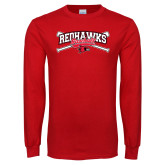 Red Long Sleeve T Shirt-Baseball Bats