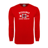 Red Long Sleeve T Shirt-Redhawks XC