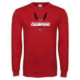Bookstore Red Long Sleeve T Shirt-2017 OVC Mens Outdoor Track and Field Champions