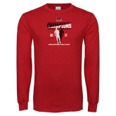 Bookstore Red Long Sleeve T Shirt-2017 OVC Mens Outdoor Track and Field Champions back to back