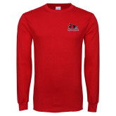 Bookstore Red Long Sleeve T Shirt-Primary Logo