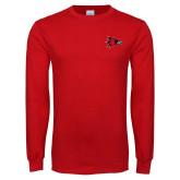 Bookstore Red Long Sleeve T Shirt-Hawk Head