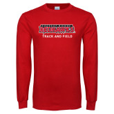 Bookstore Red Long Sleeve T Shirt-Track and Field