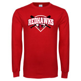 Bookstore Red Long Sleeve T Shirt-Softball