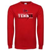 Bookstore Red Long Sleeve T Shirt-Tennis