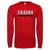 Bookstore Red Long Sleeve T Shirt-Brick 2018 FCS Playoffs