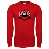 Bookstore Red Long Sleeve T Shirt-Playoffs Football Design 2018