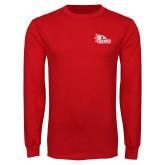 Bookstore Red Long Sleeve T Shirt-SEMO Logo for Vinyl