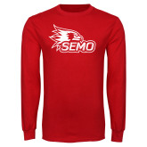 Bookstore Red Long Sleeve T Shirt-SEMO Logo