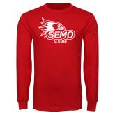 Bookstore Red Long Sleeve T Shirt-Alumni