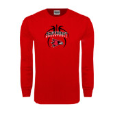 Red Long Sleeve T Shirt-Graphics in Basketball
