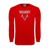Red Long Sleeve T Shirt-Graphics on Basketball