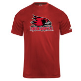 Bookstore Russell Core Performance Red Tee-Primary Logo