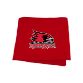 State Red Sweatshirt Blanket-Official Logo