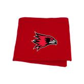 State Red Sweatshirt Blanket-Redhawk Head