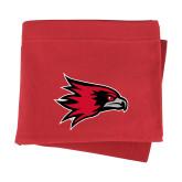 Bookstore Red Sweatshirt Blanket-Hawk Head