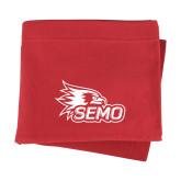 Bookstore Red Sweatshirt Blanket-SEMO Logo