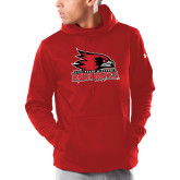 Bookstore Under Armour Red Armour Fleece Hoodie-Primary Logo