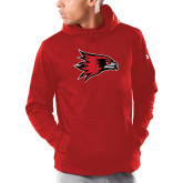 Bookstore Under Armour Red Armour Fleece Hoodie-Hawk Head