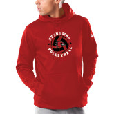 Bookstore Under Armour Red Armour Fleece Hoodie-Volleyball