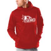 Bookstore Under Armour Red Armour Fleece Hoodie-SEMO Logo