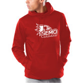 Bookstore Under Armour Red Armour Fleece Hoodie-SEMO Logo with Redhawks