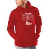 Bookstore Under Armour Red Armour Fleece Hoodie-Football with Mock Play