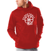 Bookstore Under Armour Red Armour Fleece Hoodie-Basketball with Ball
