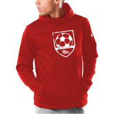 Bookstore Under Armour Red Armour Fleece Hoodie-Soccer Crest
