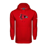 State Under Armour Red Performance Sweats Team Hood-Redhawk Head