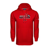 Under Armour Red Performance Sweats Team Hoodie-Soccer Swoosh