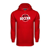 State Under Armour Red Performance Sweats Team Hood-Soccer Design