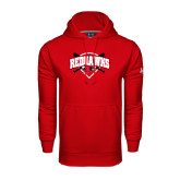 State Under Armour Red Performance Sweats Team Hood-Softball Design w/ Bats and Plate