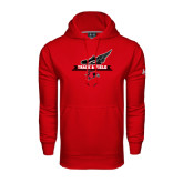 Under Armour Red Performance Sweats Team Hoodie-Track and Field Side Design