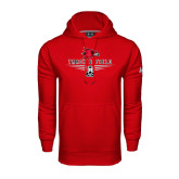 State Under Armour Red Performance Sweats Team Hood-Track and Field Design