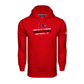 State Under Armour Red Performance Sweats Team Hood-Volleyball Can You Dig It