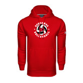 State Under Armour Red Performance Sweats Team Hood-Volleyball Stars Design