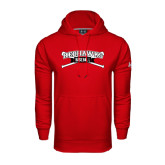 Under Armour Red Performance Sweats Team Hoodie-Baseball Crossed Bats