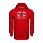 Under Armour Red Performance Sweats Team Hood-Redhawks XC