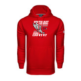 Under Armour Red Performance Sweats Team Hoodie-Cross Country Winged Shoe