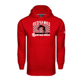 Under Armour Red Performance Sweats Team Hood-Redhawk Gymnastics Backflip