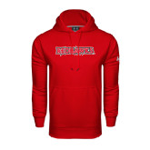State Under Armour Red Performance Sweats Team Hood-Redhawks