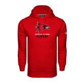 State Under Armour Red Performance Sweats Team Hood-Alumni