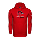 State Under Armour Red Performance Sweats Team Hood-Football