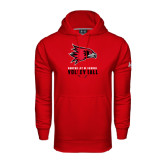 State Under Armour Red Performance Sweats Team Hood-Volleyball