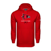State Under Armour Red Performance Sweats Team Hood-Dad