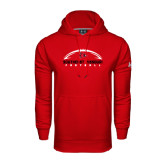 State Under Armour Red Performance Sweats Team Hood-Arched Football Design